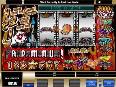 Очередная новинка компании Микрогейминг - игровой автомат Пандамониум