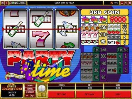 Игровой автомат Party Time перенесёт Вас на вечеринку