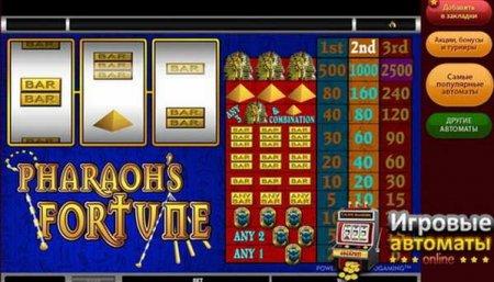 Найди сокровища в игровом автомате Удача Фараонов
