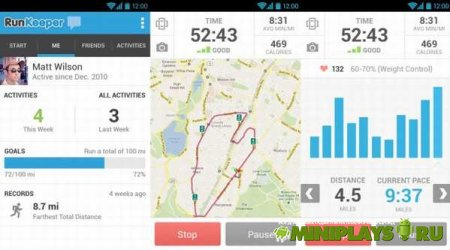 RunKeeper. GPS-трекер для бега и ходьбы