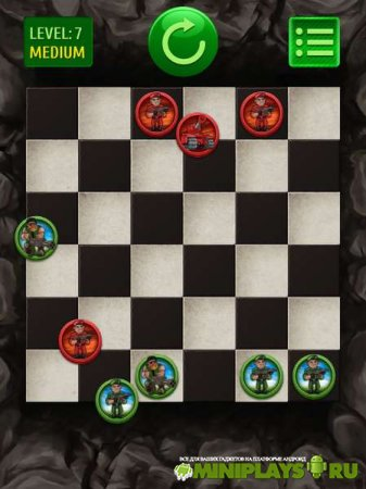 Throw checkers